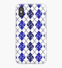 TARDIS-Inspired Police Box Argyle iPhone Case/Skin