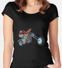 Motorbike Dog Women's Fitted Scoop T-Shirt