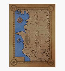The Witcher world map - Colored Photographic Print
