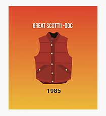 Great Scott! 1985 Orange Photographic Print