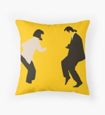 Mia and Vincent  - Pulp Fiction - top selling Throw Pillow