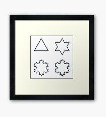 Koch Snowflake Fractal - Sequence Framed Print