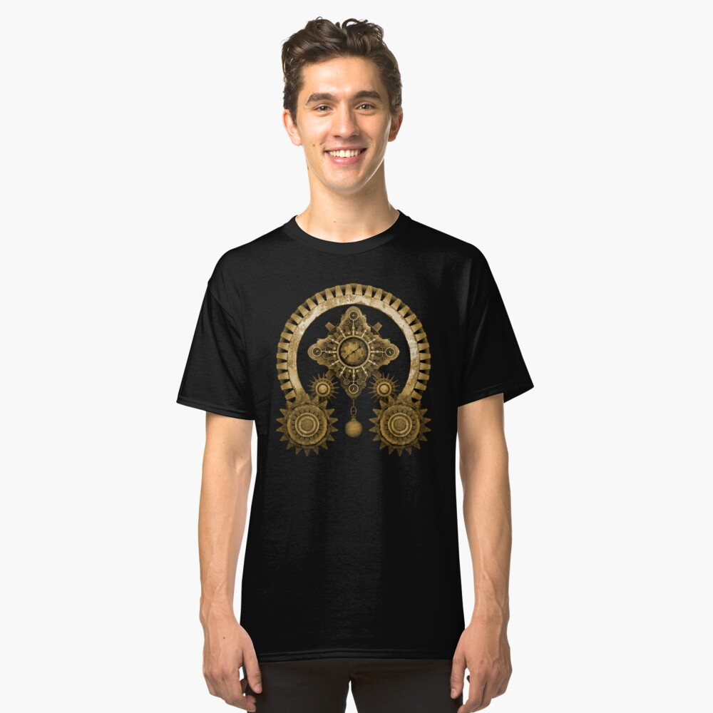 Steampunk Mystery Machine Classic T-Shirt Front