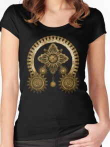 Steampunk Mystery Machine Women's Fitted Scoop T-Shirt