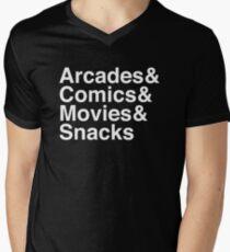 Arcades & Comics & Movies & Snacks T-Shirt