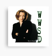 What Would Scully Do Canvas Print