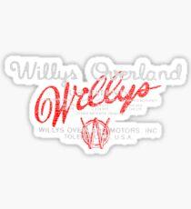 Willys Overland Motors Toledo Ohio Sticker