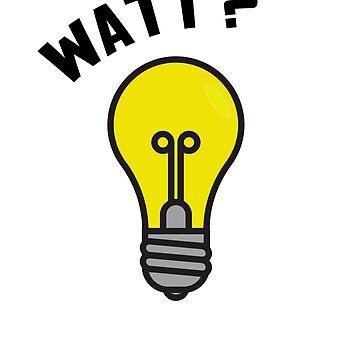 WATT?? Light Bulb Pun - Electrical Engineering Design by BudinInnovation