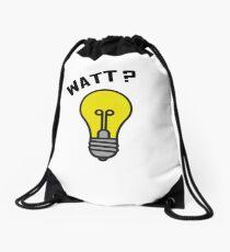 WATT?? Light Bulb Pun - Electrical Engineering Design Drawstring Bag