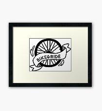 Bike & Ride Framed Print