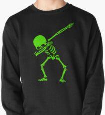 Dabbing Skeleton Green Pullover
