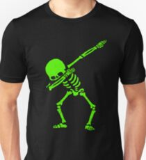 Dabbing Skeleton Green Unisex T-Shirt