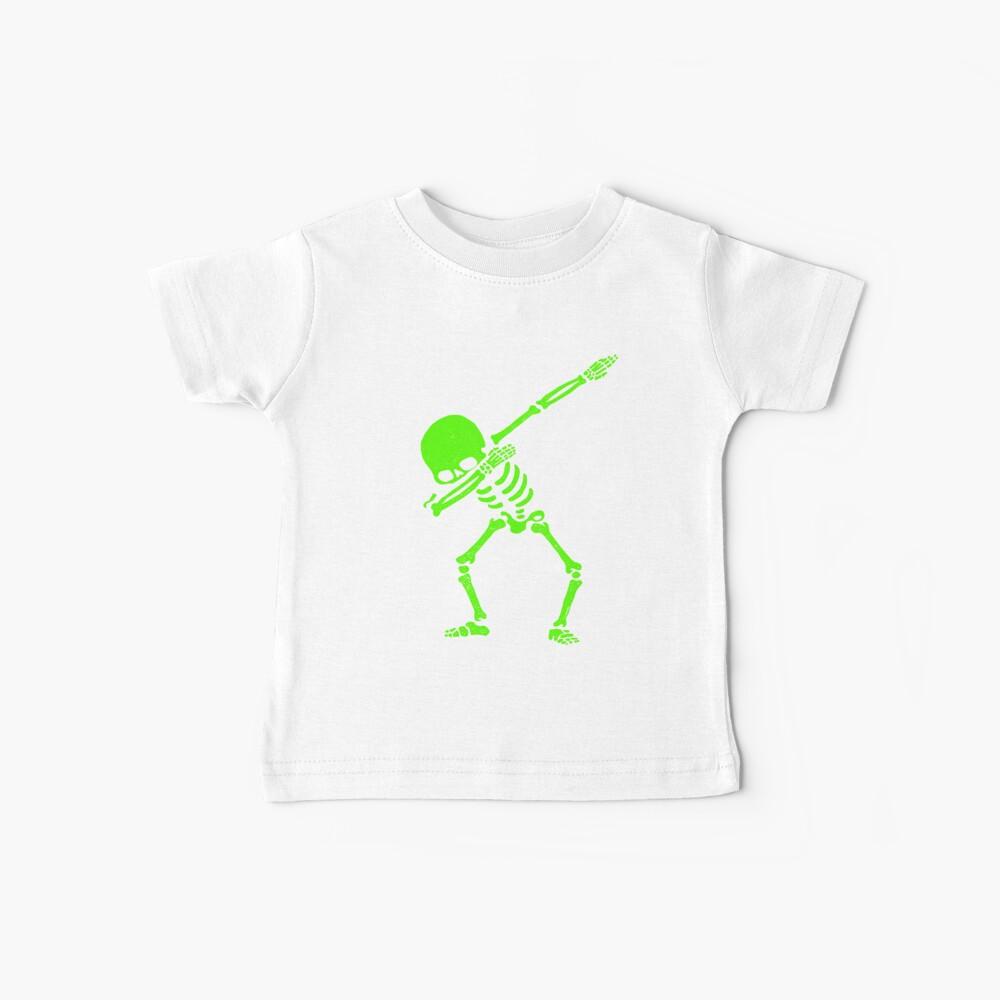 Dabbing Skeleton Green Baby T-Shirt