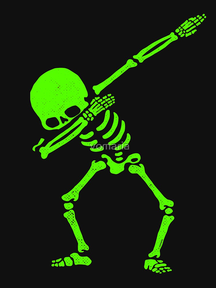 Dabbing Skeleton Green by vomaria