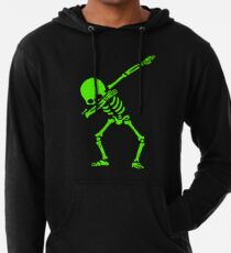 Skeleton Grün abtupfen Leichter Hoodie