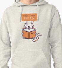Reading Right Meow for book lovers Pullover Hoodie