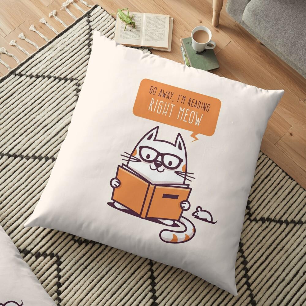 Reading Right Meow para amantes de los libros Cojines de suelo