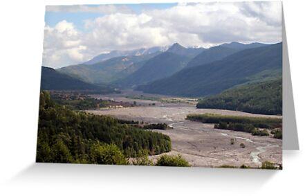 Toutle River Valley, Mount St Helens ash & debris by Dawna Morton