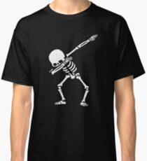 Dabbing Skeleton White Classic T-Shirt