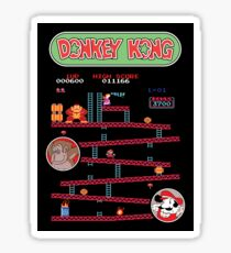 Classic Arcade Game Donkey Kong Featuring Mario Sticker
