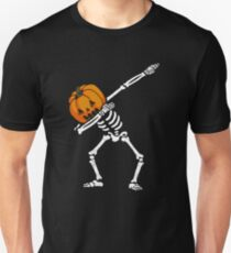 Dabbing Skeleton Pumpkin  Slim Fit T-Shirt