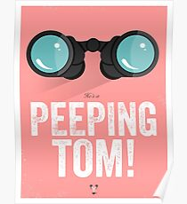 Cinema Obscura Series - Back to the future - Peeping Tom Poster