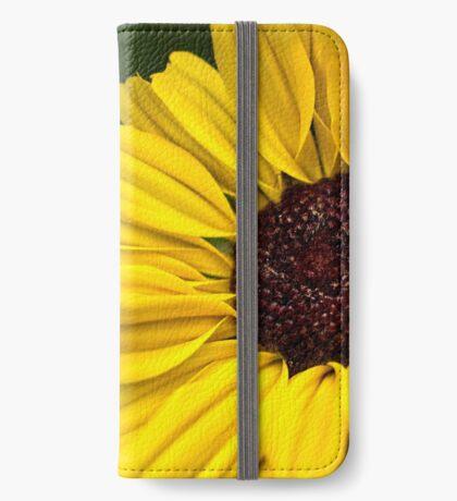 Sonnenblume Landebahn iPhone Flip-Case