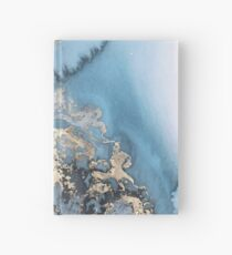 MARBLE BLUE AND GOLD Hardcover Journal