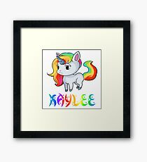 Kaylee Unicorn Sticker Framed Print
