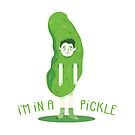 A dude in a pickle by VectoryBelle