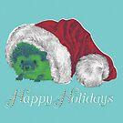 Cute Happy Holiday Hedgehog by Chrissy Curtin