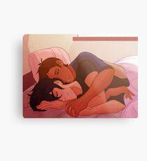 8 AM Cuddles Metal Print