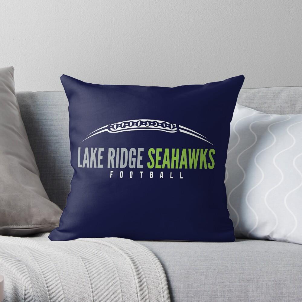 Lake Ridge Seahawks   Laces Throw Pillow