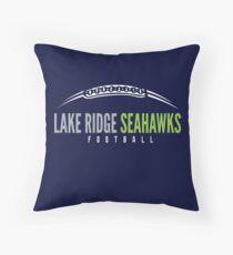 Lake Ridge Seahawks | Laces Throw Pillow