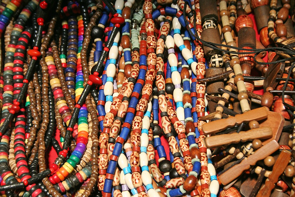 Necklaces at the Market by Calvin Hanson