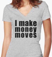 Cardi B - I Make Money Moves Women's Fitted V-Neck T-Shirt