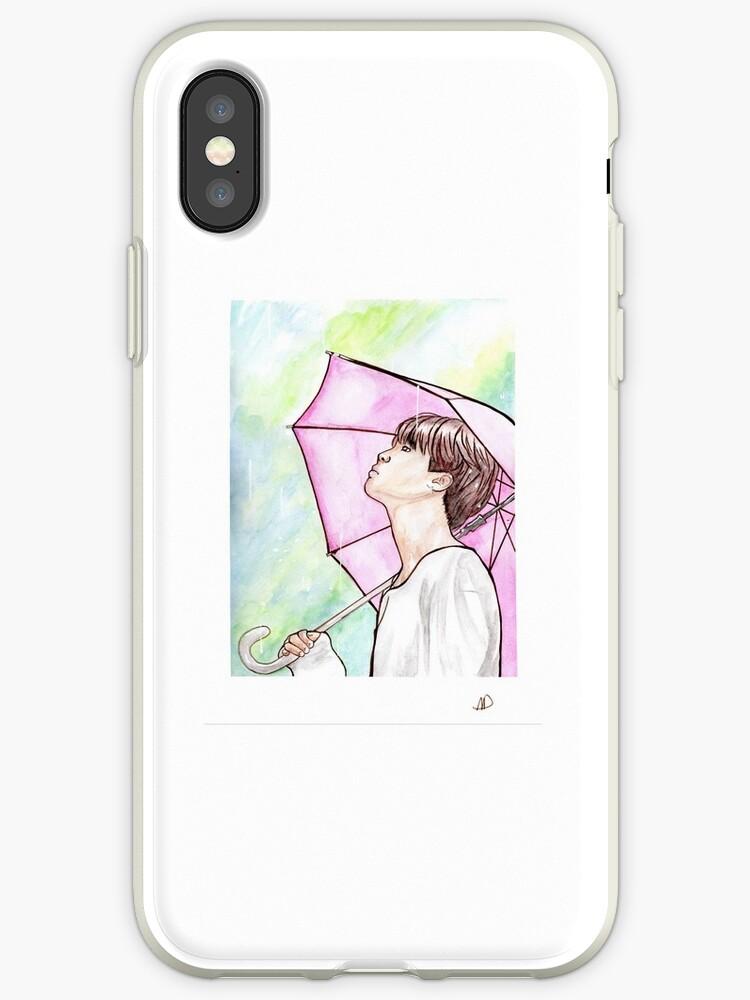 la mejor calidad para estilos clásicos precio de calle Vinilo o funda para iPhone 'Jimin BTS fanart ámate a ti mismo Destaca la  verdadera acuarela de paraguas' de Twins' Art