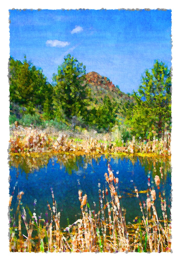 Eastern Oregon Mountains and Pond by Calvin Hanson