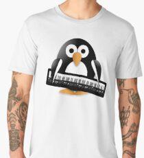 Penguin with piano keyboard Men's Premium T-Shirt