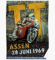 Assen Motorcycle Races 1969 Poster