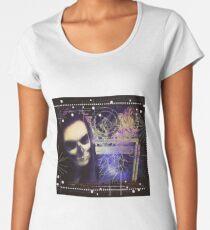 Death looking through dimensional window Women's Premium T-Shirt