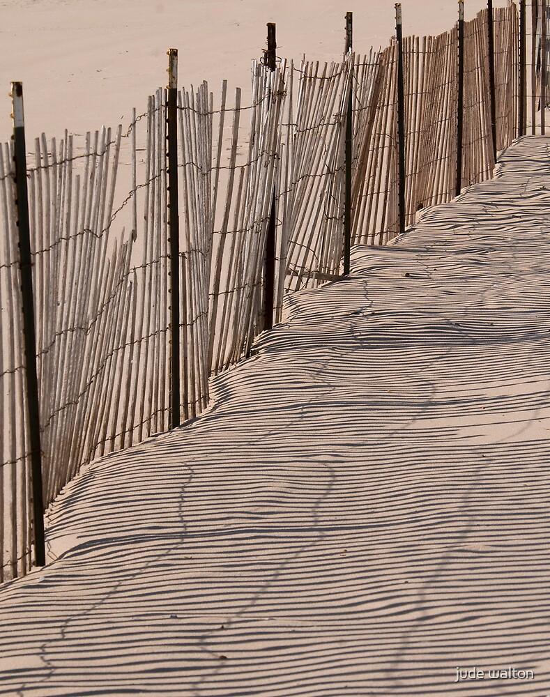 beach fence by jude walton