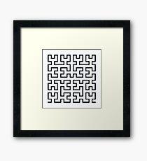 Hilbert Curve Fractal Framed Print