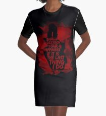 I shall destroy your happiness [black] Graphic T-Shirt Dress