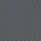 Teal, Maroon, Beige Ethnic Floral Pattern by Judy Adamson