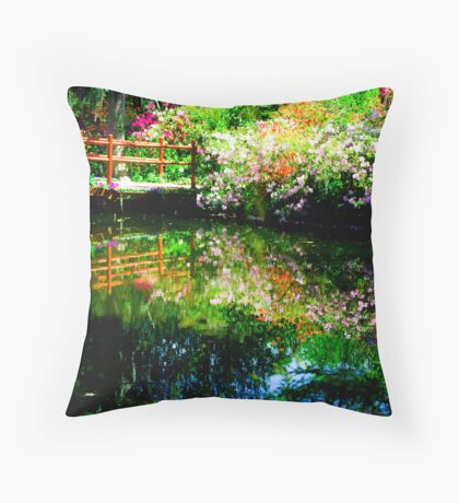 The Red Bridge Throw Pillow