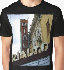 Lost Movie Palace: The Rialto Theater Graphic T-Shirt