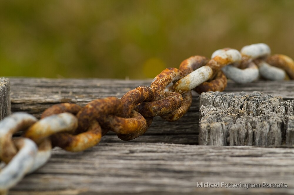 Rusted chain by Michael Fotheringham Portraits