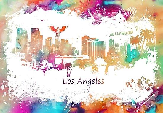 Los Angeles California Skyline by JBJart