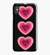 pink fluffy gold trim heart iPhone Case/Skin